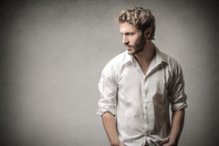 Handsome man posing Royalty Free Stock Photo