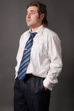 Handsome man posing in white shirt Royalty Free Stock Photo