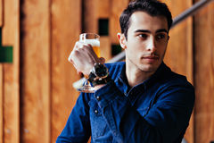 Handsome Man In Pub Royalty Free Stock Photography