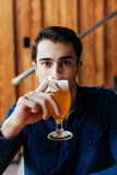 Handsome Man In Pub Royalty Free Stock Image