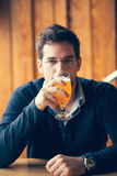 Handsome Man In Pub Royalty Free Stock Images