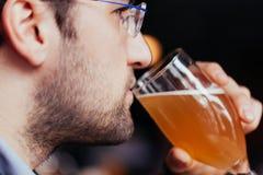 Handsome Man In Pub Stock Image