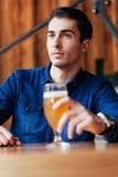 Handsome Man In Pub Stock Photos