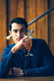 Handsome Man In Pub Royalty Free Stock Photos