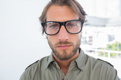 Handsome man with reading glasses Royalty Free Stock Photos