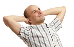 Handsome man relaxing Royalty Free Stock Images