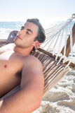 Handsome man resting in the hammock Royalty Free Stock Photo
