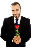 Handsome man with Rose Royalty Free Stock Photo