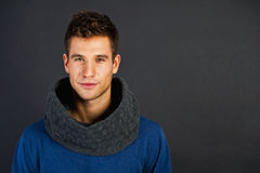 Handsome man with scarf Royalty Free Stock Photos