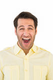 Handsome man screaming out loud Royalty Free Stock Photography