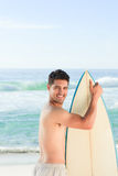 Handsome man beside the sea Royalty Free Stock Photography