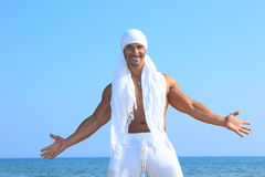 Handsome man by the sea Royalty Free Stock Photography