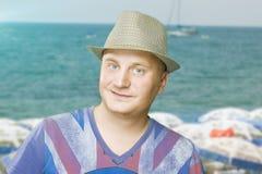 Handsome Man on Sea resort Stock Image