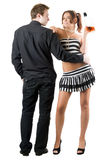 Handsome man and sexy woman Royalty Free Stock Photo