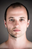 Handsome man with a shaved half his face Royalty Free Stock Image