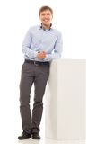 Handsome man in a shirt Royalty Free Stock Image
