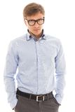 Handsome man in a shirt and glasses Stock Photo
