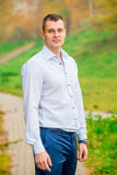 Handsome man in shirt Stock Photography