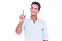 Handsome man showing his finger Royalty Free Stock Photo