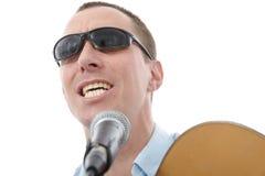 Handsome man singing Royalty Free Stock Photos