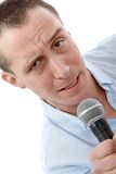 Handsome man singing Stock Photography