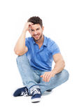 Handsome man sitting Royalty Free Stock Photo