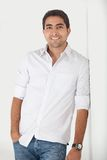 Handsome man smiling Royalty Free Stock Photos