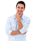 Handsome man smiling Royalty Free Stock Images