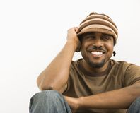 Handsome man smiling. royalty free stock images