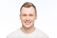 Handsome man is smiling broadly Royalty Free Stock Photo