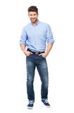 Handsome man smiling Stock Photography