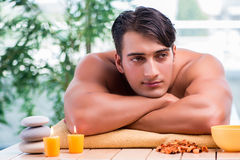 The handsome man during spa session Royalty Free Stock Image
