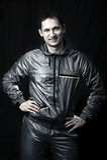 Handsome man in sportswear Stock Photos