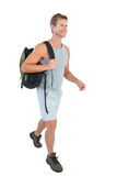 Handsome man in sportswear walking Royalty Free Stock Photography