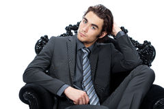 Handsome man in suit Stock Photography