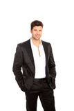Handsome man on suit Royalty Free Stock Photo