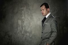 Handsome man in a suit royalty free stock photo