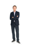 Handsome man in suit isolated Stock Images