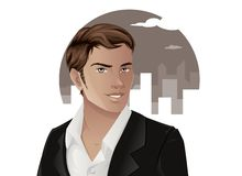 Handsome Man in Suit. Portrait of man in suit Stock Photo