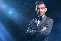 Handsome man in a suit Stock Photography