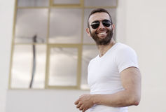 Handsome man with sunglasses Royalty Free Stock Image