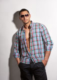 Handsome man in sunglasses Royalty Free Stock Photography