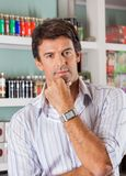 Handsome Man In Supermarket Stock Images