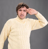 Handsome man in sweater Royalty Free Stock Photos