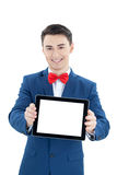 Handsome  man with tablet computer Stock Photos