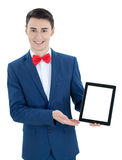 Handsome  man with tablet computer Royalty Free Stock Photos