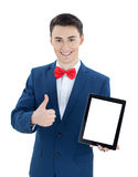 Handsome  man with tablet computer Royalty Free Stock Photo