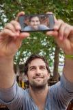 Handsome Man Taking Selfie Stock Photo