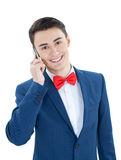 Handsome man talking on the phone Stock Images