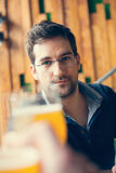 Handsome Man In Tavern Royalty Free Stock Photo